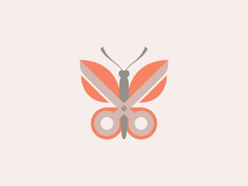 Butterfly Scissors animal illustration animal logo scissors butterfly logodesign logo icon design icon illustration layout design