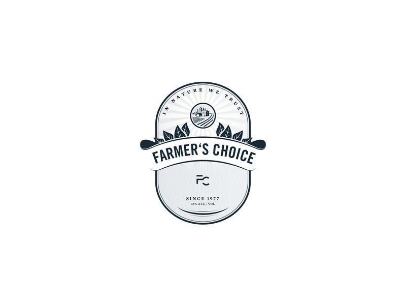 Farmer'sChoice_Label label packaging label design label packaging design packaging layout typography design
