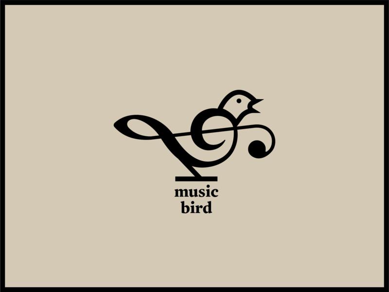 Music Bird branding design branding icon design icon bird illustration bird logo bird typography animal art animal illustration illustration animal logo logo design logo design