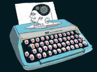 Smith-Corona Virus typewriter virus corona coronavirus illustration procreate
