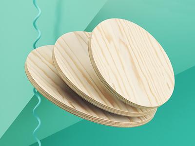 Holy Wood. speed graphic design dribbble 3d animation design render maxon illustration cinema 4d cgi art direction art adobe 3d art 3d
