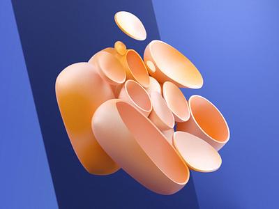 Bubble Coral. speedart animation speed art art adobe art direction illustration render design maxon cinema 4d cgi 3d art 3d animation 3d
