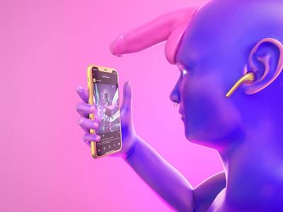 Cryptoart fun colors 3d art motion motion design 3d artist art render houdini 3d