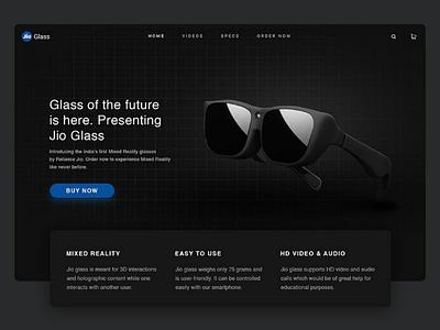 Jio glass Landing Page design web design jio glass