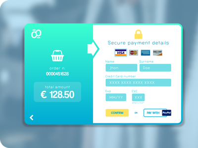 DailyUI - Credit Card checkout form