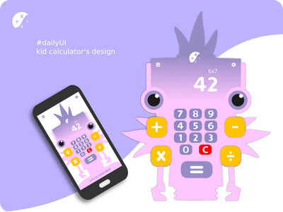 DailyUI - Calculator design dailyui