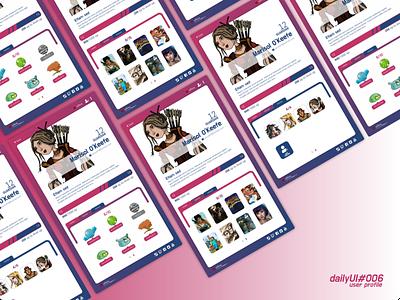 dailyUI 006 userprofile user profile user profile dailyui design