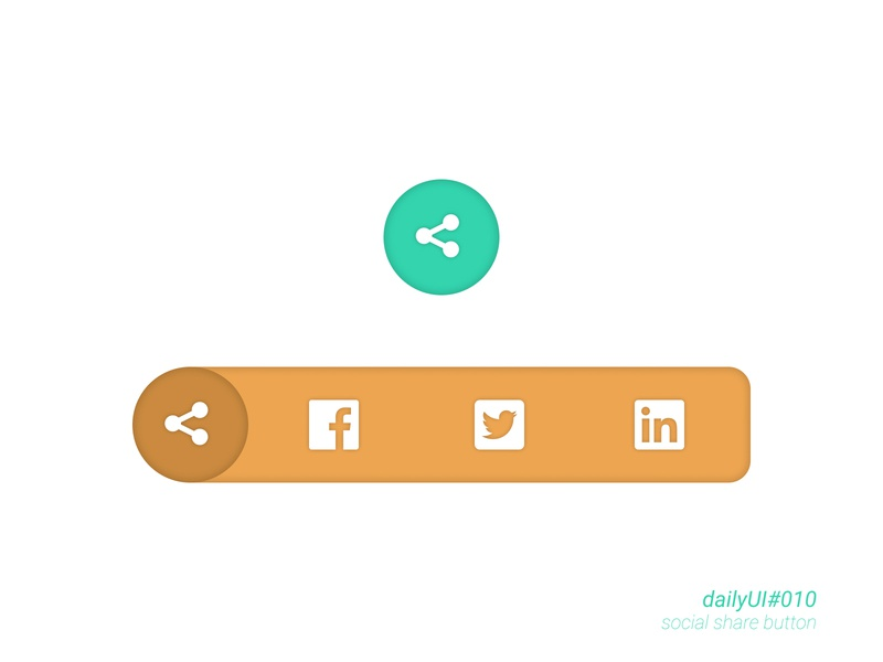 Social Share button - dailyUI 010 design social buttons social share social share buttons social sharebuttons sharebutton share button share dailyui