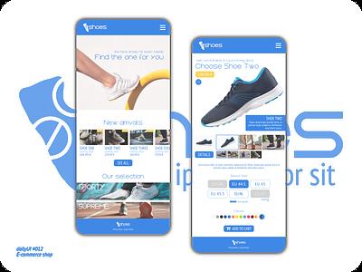E-commerce shop - dailyUI 012 product shoes e-commerce ecommerce websites website design dailyui