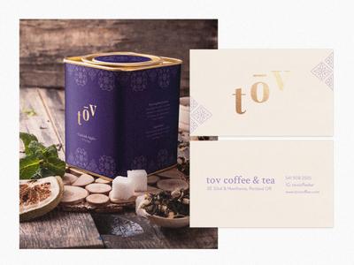 Tov Coffee Packaging and Rebranding