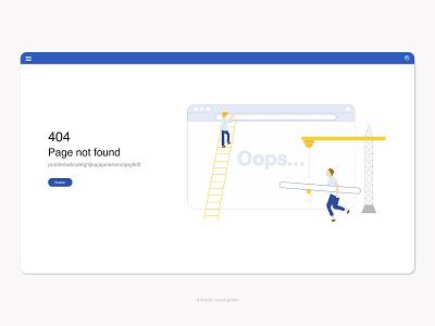 404 Error web design website oops contruction pagenotfound error message 404page 404 web error 404 error page flat ui