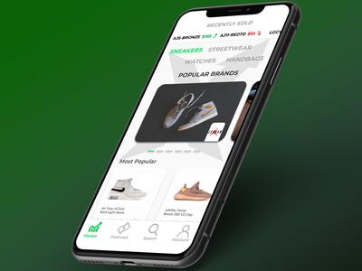Stock X App Concept