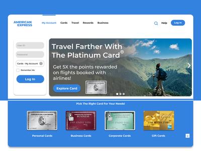 American Express Website Modernized
