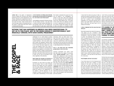 THE GOSPEL & RACE spread magazine design gospel and race gospel america racism words of wisdom print design typography type