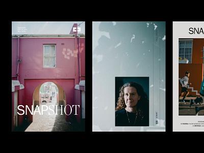 Snapshot Cover Exploration typogaphy cover magazine