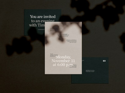 Evening vibes formal invite invitation typography chronicle typeface vibes evening color layout type