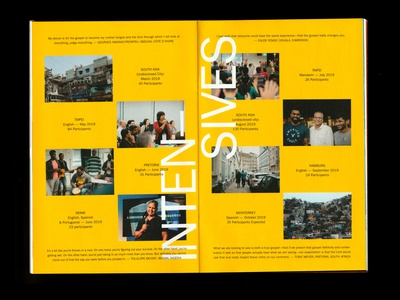 INTENSE magazine bold bright franklin gothic typography editorial layout editorial design editorial