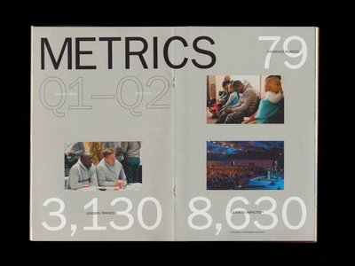 METRICS spread infographics stats big type franklin gothic typography editorial layout editorial design editorial