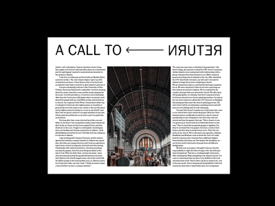 NRUTER type editorial layout typography