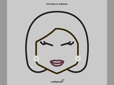 Michelle Obama creative designer vector blacklivesmatter illustration michelleobama character design