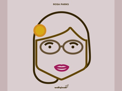 Rosa Parks rosaparks vector inspiringwomen blacklivesmatter creativedesigner digital illustration illustration character design