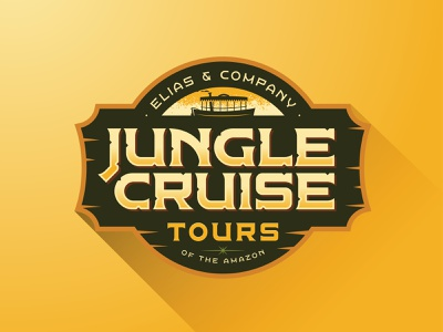 Jungle Cruise Badge disney art cruise logo badge travel tropical congo queen typography typeface type font quest adventure disney disneyland jungle cruise