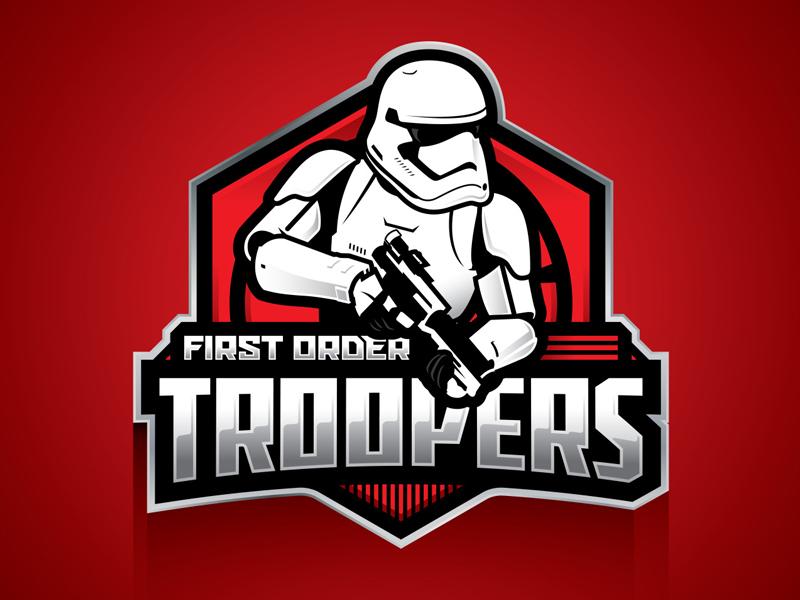 Stormtrooper Badge art awakens the force awakens first order typography type logo badge stormtrooper star wars