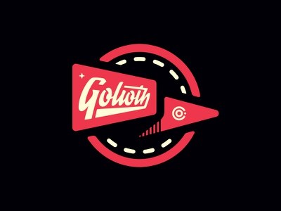 Golioth Pennant sports script type space badge pennant flag golioth