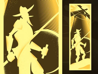 Don Quixote Poster hero folklore story windmill illustration graphic poster don quixote