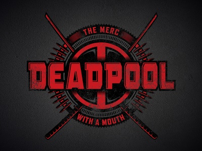 Deadpool Badge mercenary villain hero bullets swords logo badge marvel deadpool