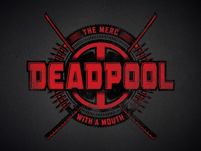Deadpool Badge mercenary villain hero bullets swords logo badge marvel deadpool