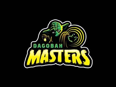 Dagobah Masters dagobah the force jedi sports mascot vector badge yoda star wars