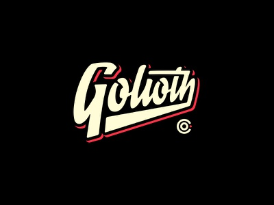 Golioth Co. space goods collectors branding type script logo golioth