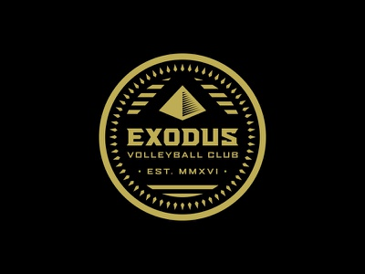 Exodus Club Patch patch crest egypt pyramid type logo badge club volleyball
