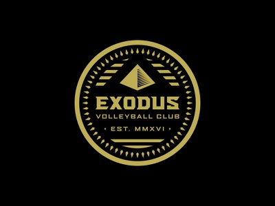 Exodus Club Patch patch crest egypt pyramid type logo badge club volleyball