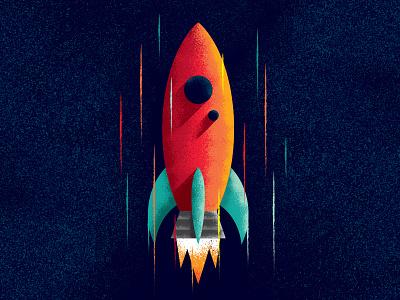Blast Off! galaxy texture exploration logo vector space rocket