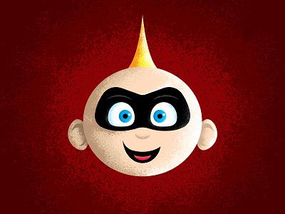 Jack-Jack! illustration texture baby pixar disney superhero incredibles 2 incredibles jack jack