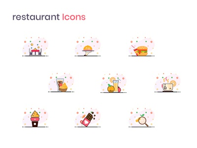 Restaurant icons for an iPhone App