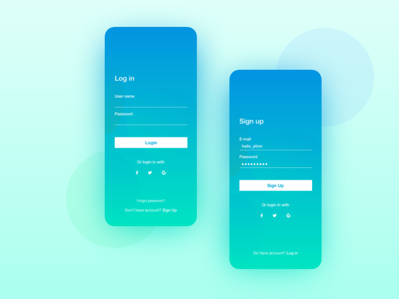 Daily Design Challenge : Day 5 Login Page by Jithin on Dribbble