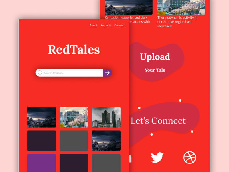 Red Tales Website clips figmadesign red upload web ui figma