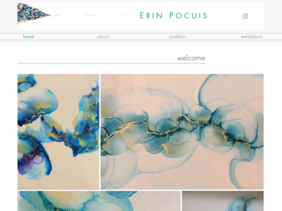 Website for artist Erin Pocuis