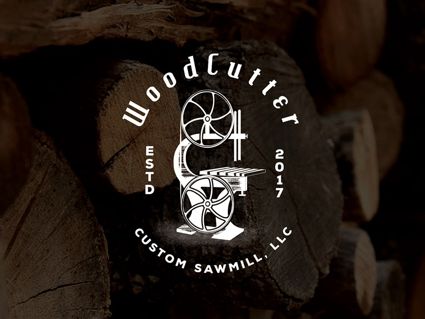 WoodCutter Logo woods timber logo stamp retro badge fine logo nice logo logo inspiration best logo retro vintage sawmill woodworking woodcut wooden wood