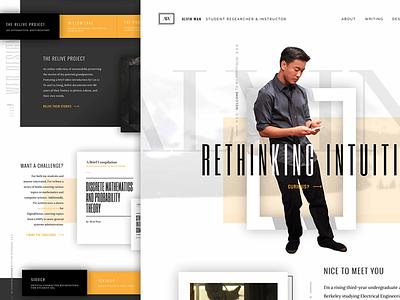 Relaunched Portfolio mobile responsive portfolio web design