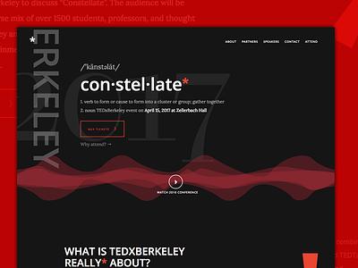 TEDxBerkeley Website Landing dark event constellate landing tedxberkeley