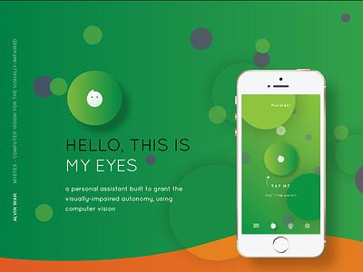 MyEyes Case Study branding icon design color ios mobile