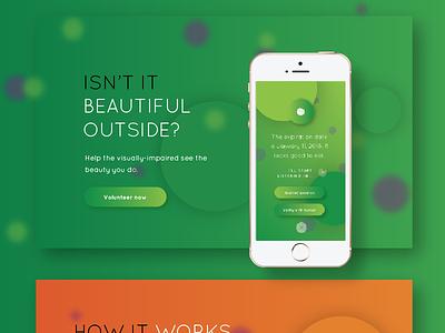 MyEyes Website Landing branding icon design landing design color ios mobile website