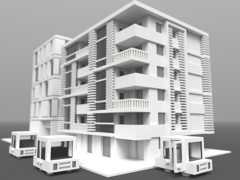 Voxelized Modern Apartment by Alvin Wan on Dribbble
