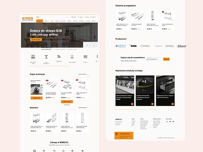 BIMEB - E-Commerce Web Design landing page layout homepage shop e-commerce shop webdesign e-commerce animation minimal design website ux ui