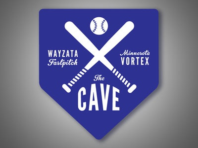 The Cave logo sports softball