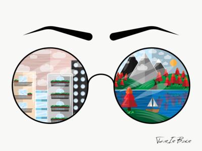 Beauty glasses